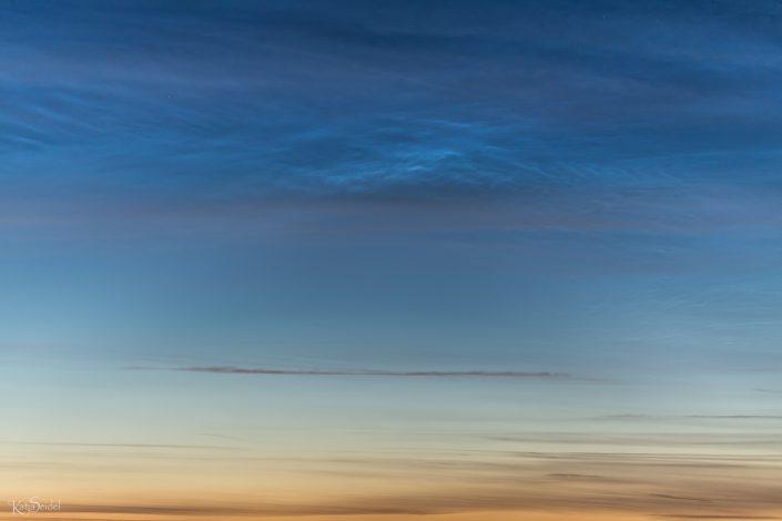 Leuchtende Nachtwolken fotografieren